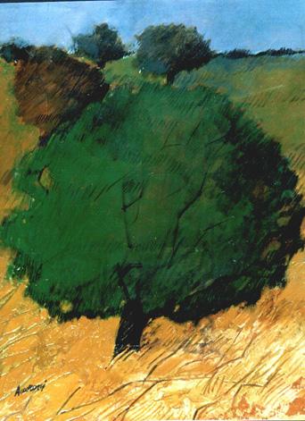"""Alberi"" tecnica mista (30 x 40 cm)"