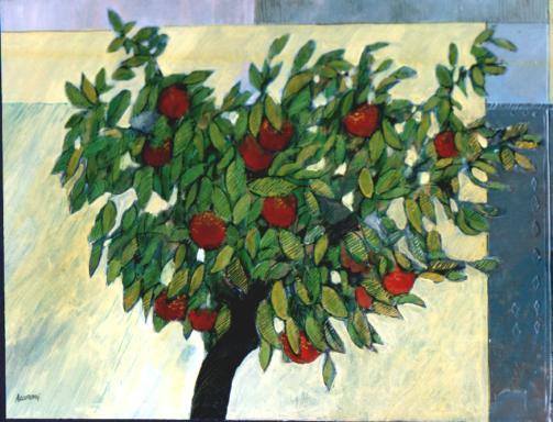 """Albero"" tecnica mista (60 x 80 cm)"