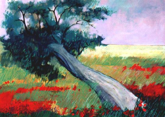 """Vecchio albero"" tecnica mista (70 x 90 cm)"