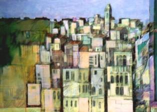 """""""Case del sud"""" tecnica mista (60 x 80 cm)"""
