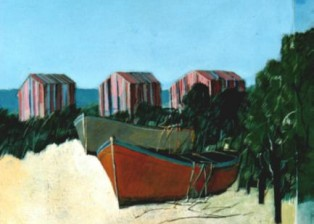 """Capanni"" tecnica mista (35 x 30 cm)"