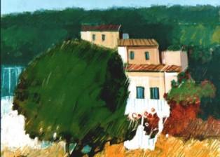 """Paesaggio"" tecnica mista (20 x 25 cm)"